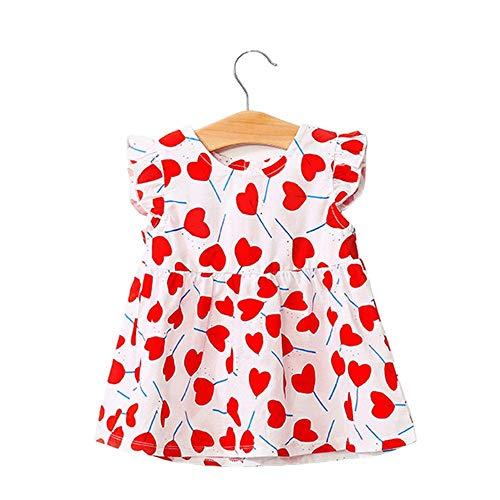 Vestidos de bebé para niñas y niñas, de una pieza, de manga corta, vestido de princesa, de verano, de 9 a 12 meses/80