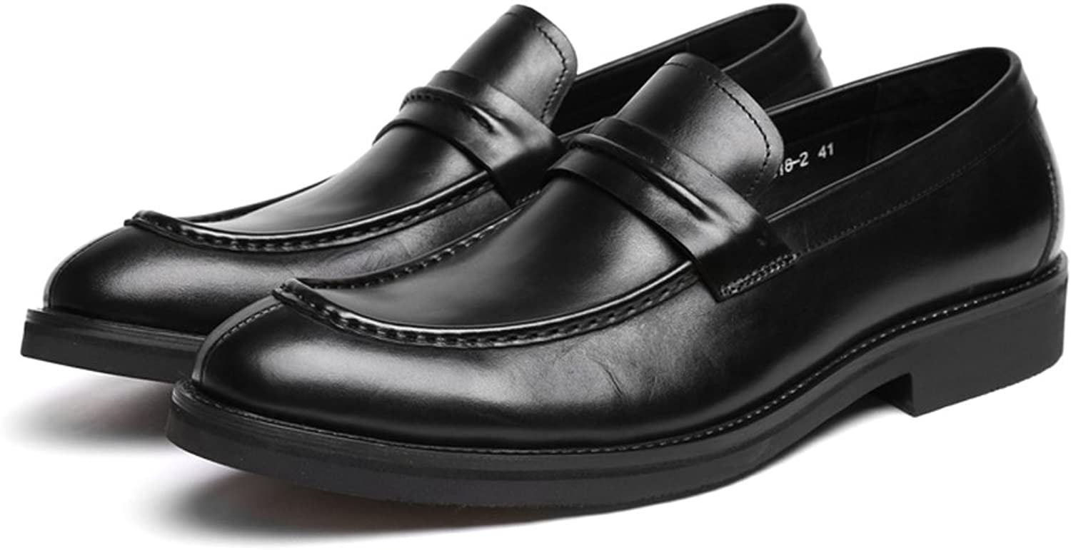 Santimon Men's Genuine Leather Causal Leisure shoes Oxford shoes-1018-2