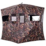 Outsunny Portable Ground Hunting Tent Shooting Birdwatching Blind Hide Tent w/Carry Bag 2-3