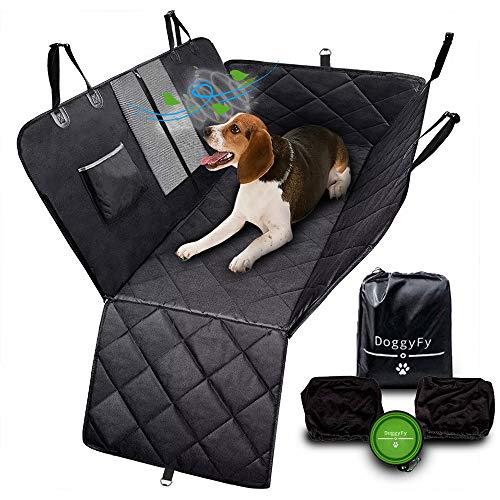 DoggyFy - Hunde Rückbank-Schoner und Extras - Für den Sicheren Transport von 2 und mehr Hunden