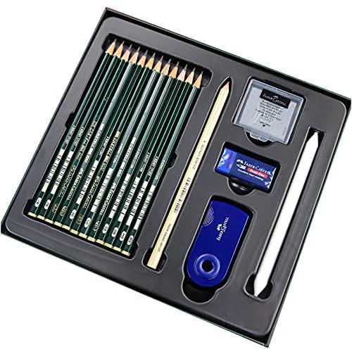 ファーバーカステル 鉛筆セット CASTELL9000 限定版シルクロード敦煌 (HB+2B+4B+6B+8B)消しゴム+芯研器付 [並行輸入品]