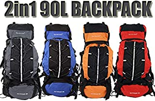 Outlander - Camping Backpack Large 90L + 15L Day Pack Rucksack Bag Luggage Hiking New Travel