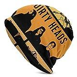 Lsjuee Dirty Heads Skull Caps Sombrero de punto para adultos Casual Unisex Moda cálido Sombrero suave Cómodo invierno Negro