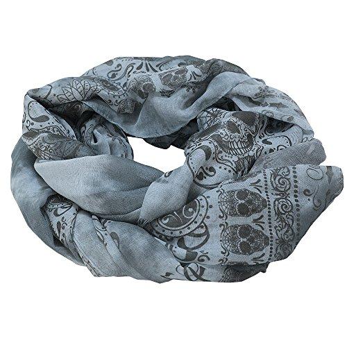 Jack's Inn 54 Schal/Halstuch - Sugar Skull Tuch blau