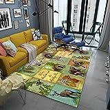 Vlejoy Alfombra Pelo Corto Alfombra Infantil Salón Dormitorio Alfombra Verde 120x160cm