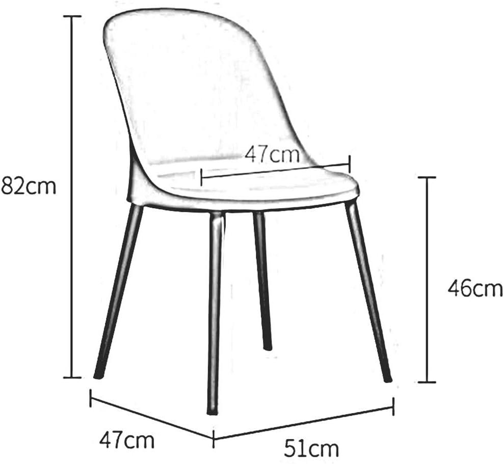 WYYY chaises Chaise De Salle À Manger En Plastique Creative Chaise De Maquillage Conception En Plastique Chaise De Table Facile À Assembler Durable fort (Color : Black) White