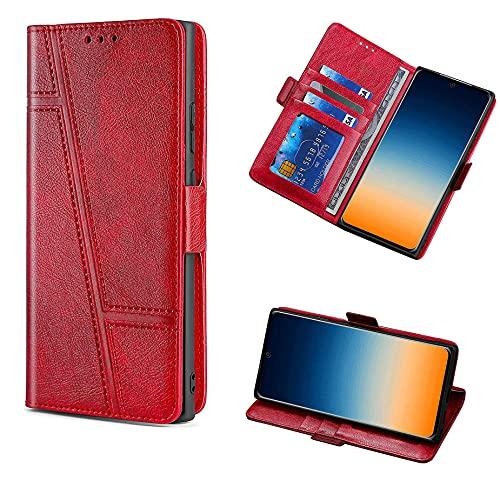 HUAYIJIE GKLTCK Flip Funda para ASUS ROG Phone II Funda Carcasa Case Cover [Rojo]