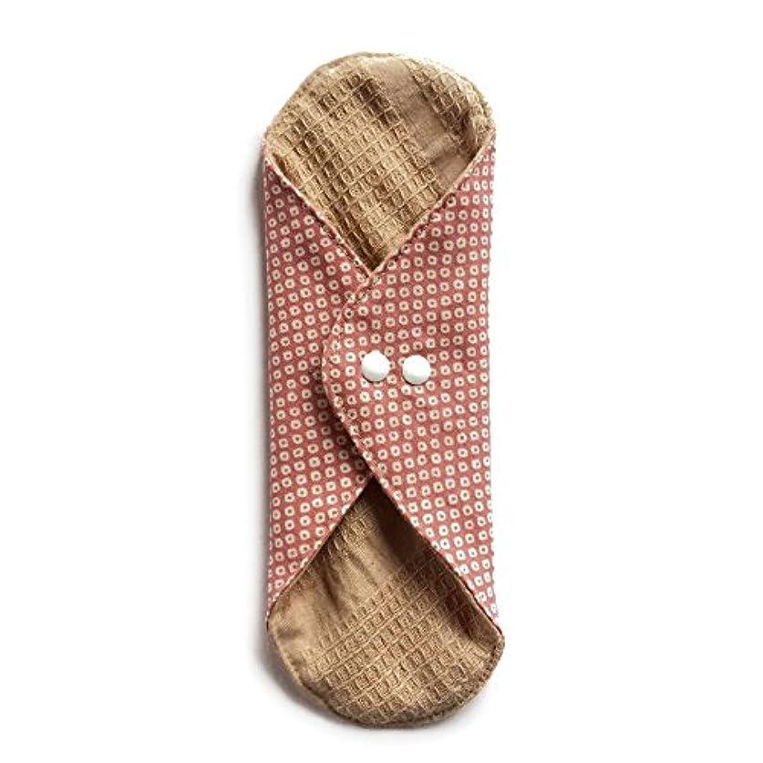 花羊の靴華布のオーガニックコットンのあたため布 Lサイズ (約18×約20.5×約0.5cm) 鹿の子(桃)