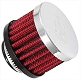 K&N Vent Air Filter/ Breather: High Performance, Premium, Washable, Replacement Engine Filter: Flange Diameter: 0.75 In, Filter Height: 1.5 In, Flange Length: 0.4375 In, Shape: Breather, 62-1360