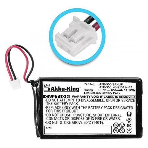 Akku-King Akku kompatibel mit RTI ATB-850 ATB-950-A - Li-Ion 850mAh - für Fernbedienung T1, T2, T2+, T2, T2+, T2B, T2C, T2Cs, T3, TheaterTouch