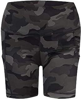 Summer Ladies Shorts Loose Casual Woman Yoga Workout Scrunch Booty Gym Yoga Pockets Leggings