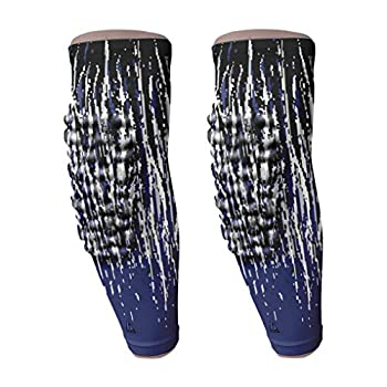 B-Driven Sports - Navy Streaks Youth Basketball Arm Sleeves - Great For All Sports incl Football Baseball - Youth Size