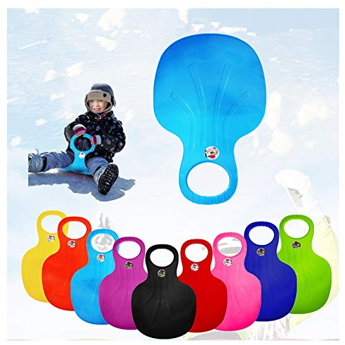 YZHM Snow Sled Board, Outdoor Winter Plastic Skiing Boards, Portable Snow Grass Sand Board Ski Pad Snowboard for Kids & Adult (Sky Blue)