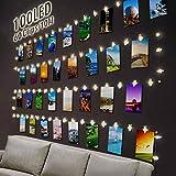 Ibello Guirnaldas Luces Fotoclips 100 Led 10m Guirnalda luminosa, Alimentado por Pilas con...