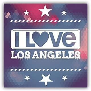 I Love Los Angeles City United States Slogan Sticker Decal Design 5