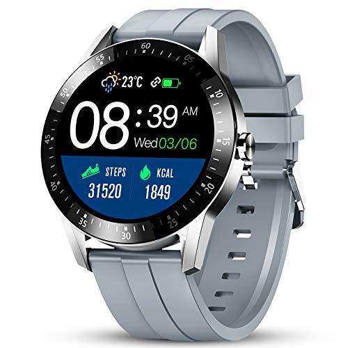 Smartwatch GOKOO Orologio Intelligente Uomo con Cardiofrequenzimetro Monitoraggio della Pressione Sanguigna nel Sonno Orologio Fitness 24-Sports Modes Activity Tracker Compatibile con IOS Android