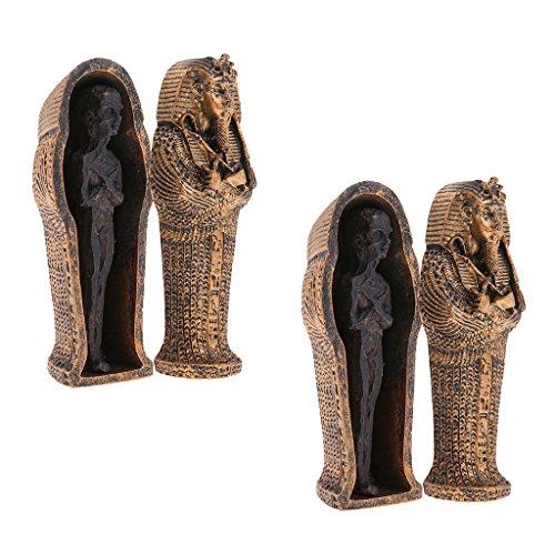 HomeDecTime Modelo de Ataúd de Momia de Resina Exquisita de 2 Piezas para Artesanía de Coleccionables de