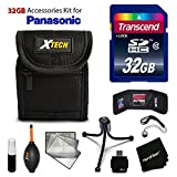 32GB Accessory Kit for Panasonic DMC-ZS60K, DMC-ZS60, DMC-ZS50K, DMC-ZS45K, DMC-ZS40K, DMC-ZS35K, DMC-ZS30, DMC-TS6, DMC-ZS100K Includes 32GB High-Speed Memory Card + Fitted Case + Accessories Kit