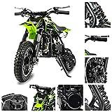 Fit Right 2020 DB001 49CC 2-Stroke Kids Dirt Off Road Mini Dirt Bike, Kid Gas Powered Dirt Bike Off Road Motorcycle (Green)