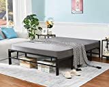 Alecono Full Size Bed Frame 14 inch, Heavy Duty Steel Slat Mattress Foundation with No Box Spring Needed Easy Assembly Full Bed Frame Noise Free and Large Underbed Storage Space Platform Bed Black