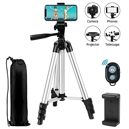 Retractable Tripod Orange Telescopic Aluminum Alloy Tripod Stand Holder Load up 4.4lb with Hanging Hook and Fluid Pan Head for DSLR Camera Camcorder Digital Camera