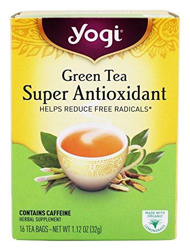 Yogi Tea Green Tea Super Antioxidant, Herbal Supplement, Tea Bags, 16 ct, 2...