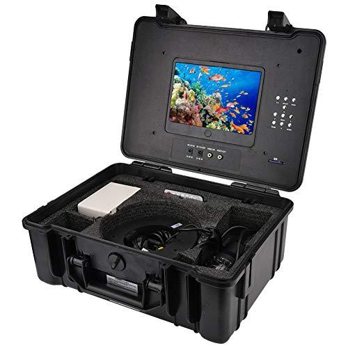 7'buscador de Pescados Giratorio de la cámara de vídeo de la Pesca subacuática de 360 Grados con DVR los 30m(Regulaciones Europeas (100-240v))
