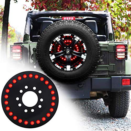 omotor for Jeep Third Brake Light Spare Tire Brake Light for 2007-2020 Jeep Wrangler JK JL Unlimited Rubicon Sahara X Sport