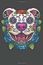 2020 Week To View Dated Planner Diary: 6x9 Inches Paperback Day of the Dead Pitbull Pit Bull Dog Sugar Skull Calavera