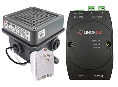 Netbell-2-1Buz TCP/IP Web-based Buzzer Kit with One Federal Signal 350-024-30 Vibratone Horn
