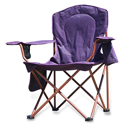 BSDBDF Chaises de Camping compactes Pliantes avec Poche latérale et bandoulière pour extérieur, Festival, Plage, randonnée Size Violet