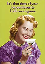 Recycled Paper Greetings Woman Drinking Martini Vintage Photo Funny/Humorous Zero Gravity Halloween Card