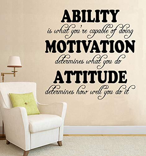 Wall Decals Ability Motivation Attitude Wall Decal Quote Home Decor Art Quote Decals Wall Art Stickers Decal