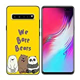 We Bare Bears Pa Black Soft Silicone Phone TPU Case for Galaxy Cover-Samsung Note 8-Dark Grey