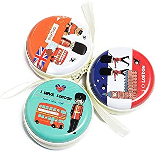 Moca Multicolor Metal Tin Case Pouch For Earphone Pouch Case (Pack Of Any 2 Random Prints, Vintage Paris.)
