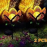 ALLOMN Solarleuchten Garten im Freien, 2 Stck Draussen Weg Dekorative Lampe Leuchtet Solar...