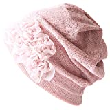 CHARM フラワー メッシュ ワッチ [ フリーサイズ/ピンク ] 3way 春夏 ケア帽子 ターバン ネックウォーマー