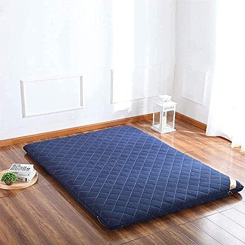 Dormir Tatami Estera De Meditación,Sleeping Pad Respirable Futón Tatami Colchón Pad Suave Japonés para El Estudiante Dormitorio Colchón,Azul,180x200cm
