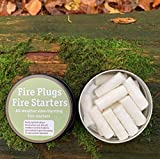 Forest Fundamentals Fire Plugs Fire Starters | All Weather Natural Fire T<span class='highlight'>in</span>der | Survival Bushcraft Fire Starters | Slow-Burn<span class='highlight'>in</span>g Waxed Cotton T<span class='highlight'>in</span>der