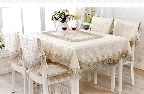 XINGYUNXING Continental, Table Bubu Arts, Coureur Table de Nappe en Dentelle, Kit de Couverture de Chaise,130 * 180CM