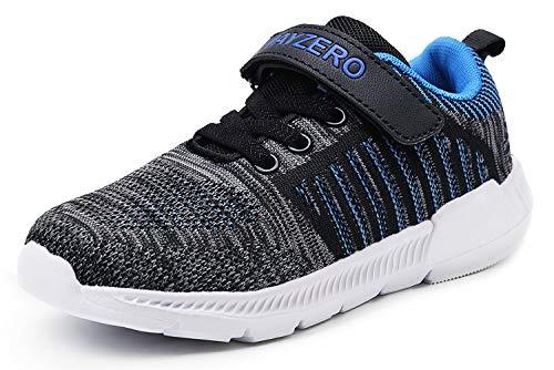Jsleap - Zapatillas de Tenis para niño, Ligeras, Bajas en la Parte Superior, para niños pequeños, niños pequeños y Grandes, Color, Talla 34 EU