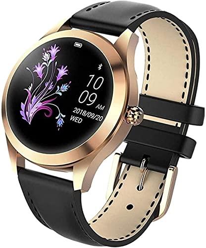 Reloj inteligente impermeable de la mujer de la pantalla táctil redonda IP68 impermeable reloj inteligente un rastreador de la aptitud