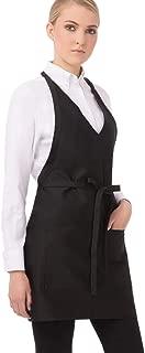 v neck tuxedo apron
