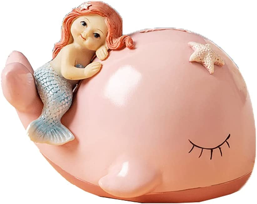 High quality Lucky Bargain sale Decorative Ornaments Gift Pink Whale Fish Piggy Bank Small