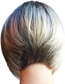 Fashion Synthetic Short Straight Dyeing BOB Gold Natural Hair Full Wigs