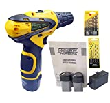 Cheston 10 mm Keyless Chuck 12V Cordless Drill/Screwdriver with 2 Batteries, 5 Wall