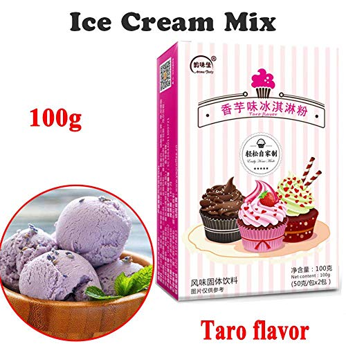 IJsmix (Lactosevrij), Perfect IJs, DIY Soft Serve Ice Cream Mix Variety, melk/chocolade/matcha/aardbei/taro, Delicious Premium Old Fashioned Ice Cream, 100g