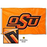 College Flags & Banners Co. Oklahoma State University Embroidered and Stitched Nylon Flag