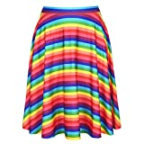 Rainbow Mini Skirt - Pink, Yellow, Blue, Purple Hippie Style Skirts for Women