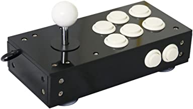 Mini USB Arcade Joystick for PC Game All Black PC Controller Computer Game Portable Joystick Consoles Gift